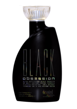 Devoted Creations Black Obsession DHA bronzer zonnebank creme lotion tattoo bescherming