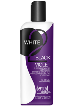 Devoted Creations White 2 Black Violet zonnebank creme lotion