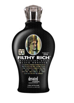 Devoted Creations Filthy Rich zonnebank zoncosmetica creme dha bronzer tan tanning lotion