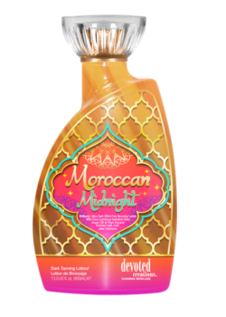 Devoted Creations Moroccan midnight color rush zonnebank creme lotion tan tanning zon dha bronzer
